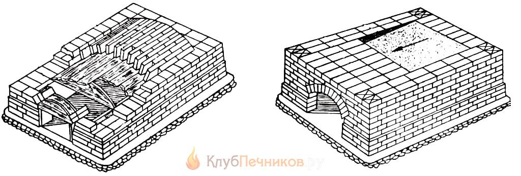 7-10 ряды кладки русской печи