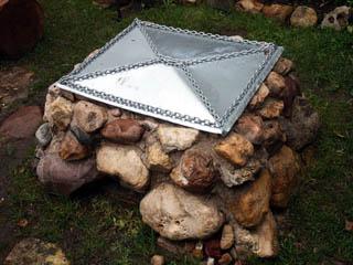 Каменный барбекю-мангал-гриль