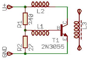 Схема простейшего генератора для индукционной печи