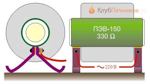Муфельная мини-печь из резистора