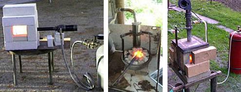 Простые газовые горны из кирпича
