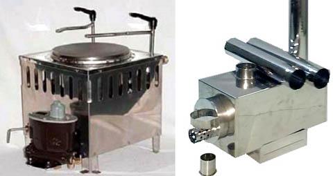 Яхтенный камелек и туристская печка