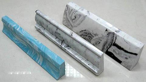 Детали декоративной облицовки из искусственного мрамора