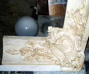 Деталь декоративной облицовки из оселкового искусственного мрамора