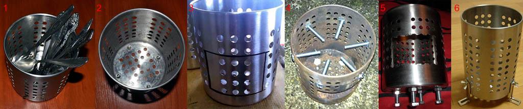 Печка-щепочница из сушилки для столовых приборов