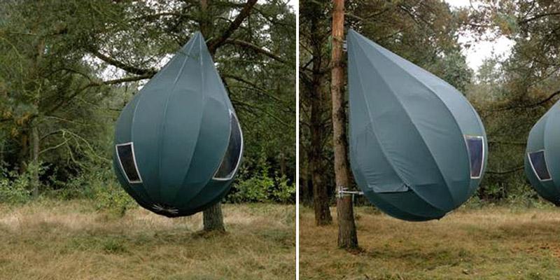 Палатки-коконы (палатки-баллоны), подвешиваемые на деревьях