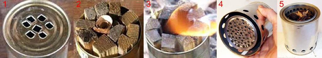 Походные печки-щепочницы из банок