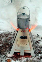 Складная печка-щепочница пирамидальной формы