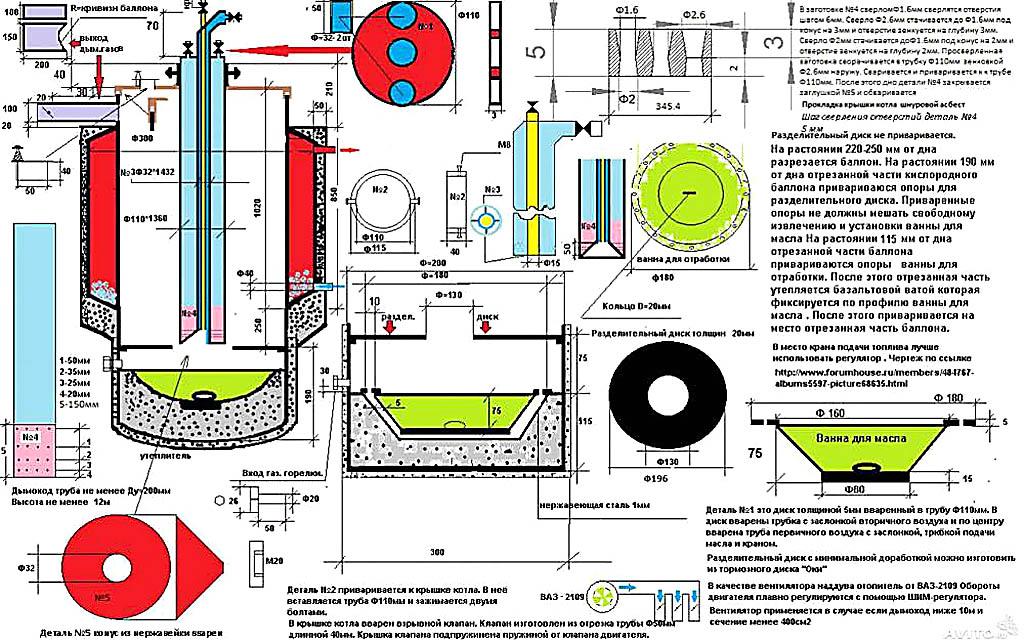 Чертежи капельного котла на солярке для системы водяного отопления с термосифонной циркуляцией