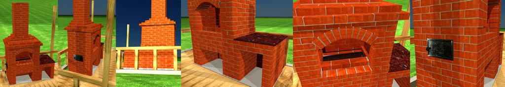 3D проект печи для беседки