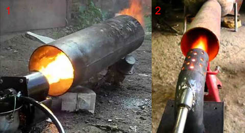 Использование горелки на отработке для обогрева помещений