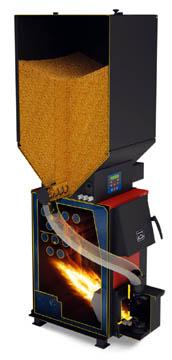 Компактный пеллетный котел с принудительной подачей топлива