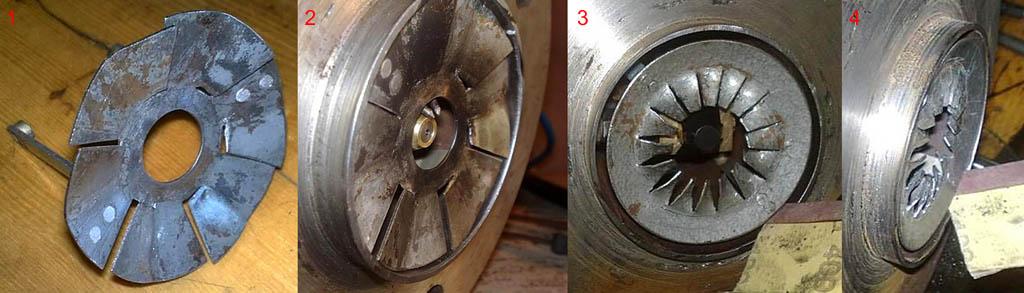 Конструкция турбулизатора (завихрителя) эжекционной горелки на отработке в зависимости от способа наддува