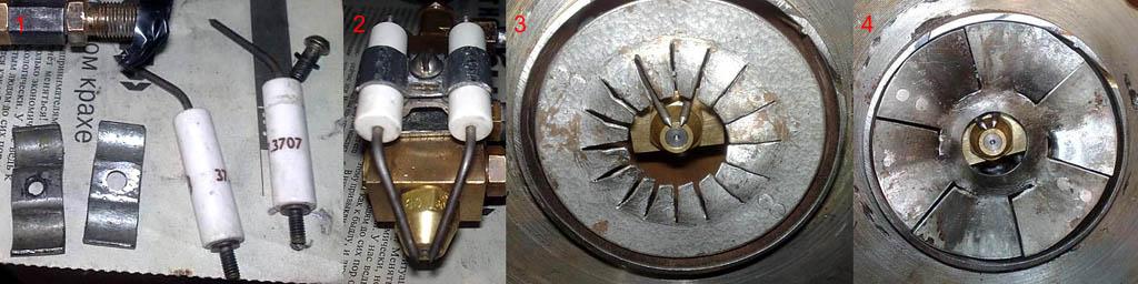 Способ зажигания топлива эжекционной горелки на отработке двумя электродами