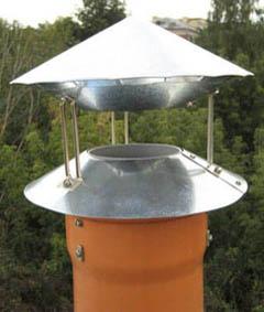 Аэродинамически открытый дымовой дефлектор, не создающий боковых нагрузок на трубу