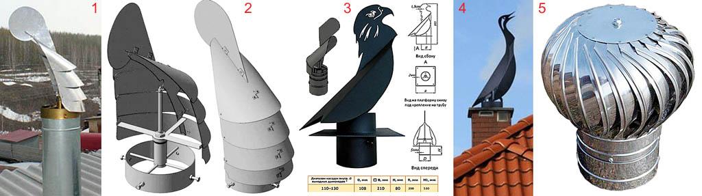 Дефлекторы для труб - флюгеры