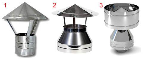 Этапы эволюции дымового дефлектора от простого зонтика к дефлектору ЦАГИ