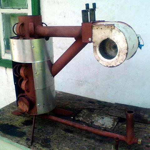 Самодельная капельная печь на отработке