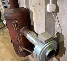 Самодельная капельная печь с контуром воздушного отопления с принудительной циркуляцией
