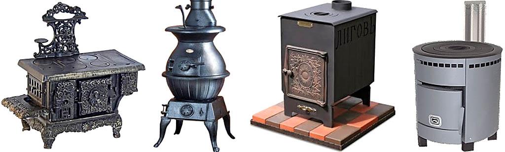Примеры дизайна чугунных печей