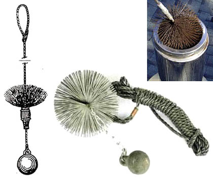 Приспособление (ерш) для чистки дымовых труб