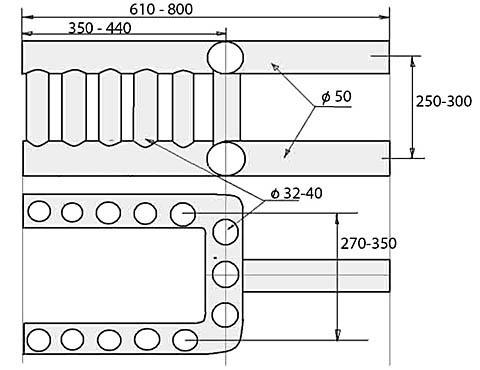 Креслення теплообмінника (теплообмінного регістра) для печі з водяним контуром