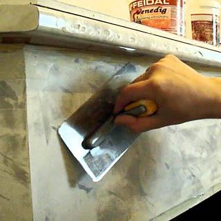 Выведение угла при штукатурке печи или камина