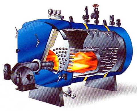 Устройство парового котла с топкой на встречных факелах