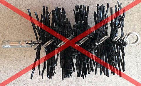 Ерш для очистки прочных стальных дымоходов от особенно плотной и твердой сажи.