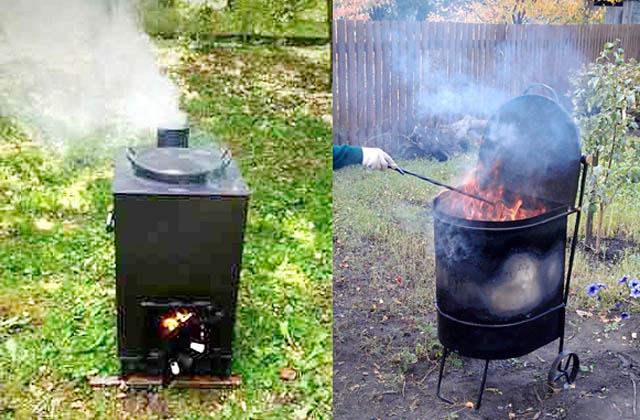 Садовые печи для сжигания мусора промышленного изготовления на ходу