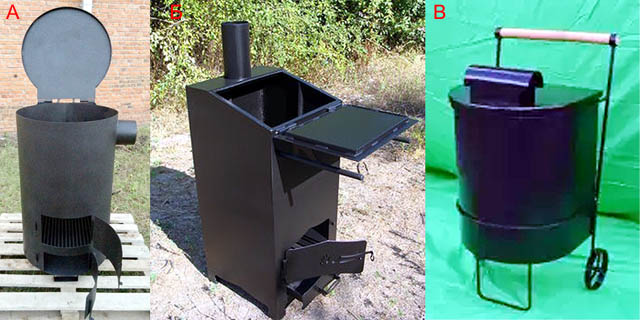 Типы садовых печей для сжигания мусора промышленного изготовления