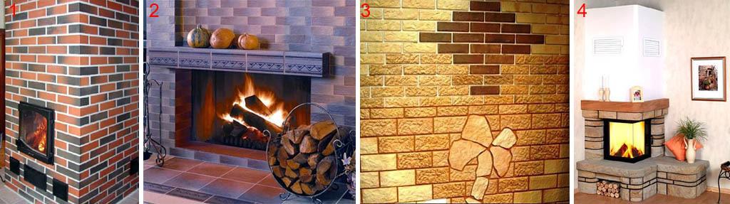 Облицовка печей и каминов клинкерной и терракотовой плиткой