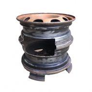 Печка для бани из дисков своими руками