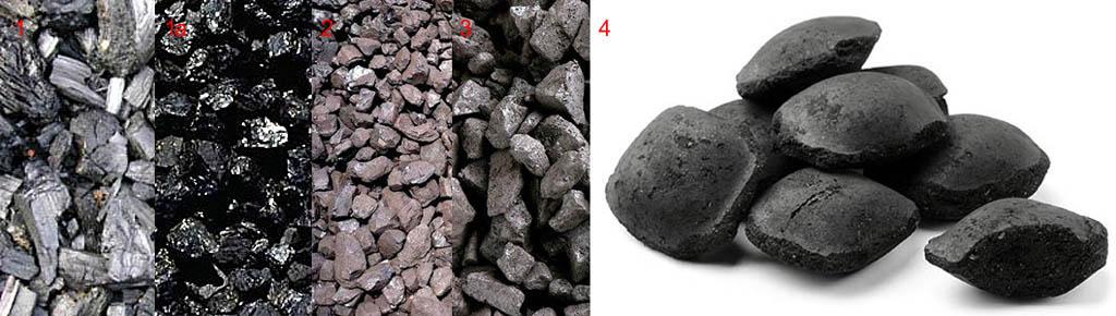 Виды ископаемого угля и угольные лепешки для топки печи